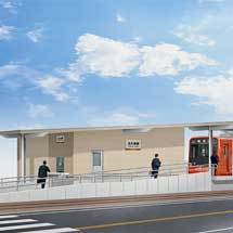 伊予鉄道,横河原線北久米駅のバリアフリー工事が完了