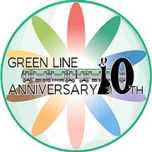 横浜市交通局,グリーンライン「開業10周年記念ロゴ」を制作