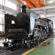 5月5日京都鉄道博物館で,「こどもの日限定!SL第2検修庫特別公開〜C57形1号機とSL整備士に会おう〜」開催