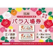 江ノ電「バラ入場券」発売