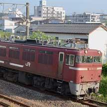鹿児島本線でED76 1017+EF81 501の重連単機が走る