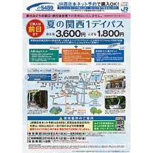 JR西日本・京阪・南海・近鉄・大阪水上バス「夏の関西1デイパス」発売