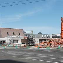 旧ふるさと銀河線本社建物が解体される