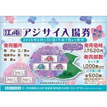 江ノ電「アジサイ入場券」発売