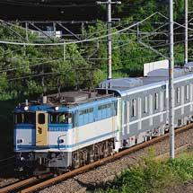 EF65 2127が東京メトロ13000系の甲種輸送をけん引