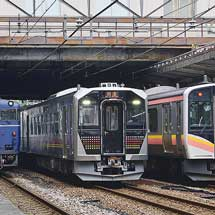 GV-E400系が長岡駅で展示される