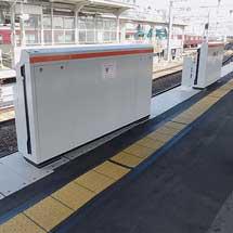 十三駅3号線ホームに可動式ホーム柵が設置される