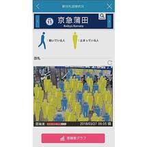 京急線アプリで「駅改札混雑状況」表示機能の提供を2018年9月から開始