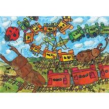 「ぼくとわたしの阪神電車」絵画募集