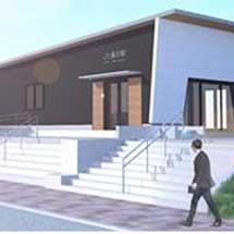 東北本線藤田駅の駅舎を建替え