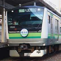 横浜線E233系にヘッドマーク