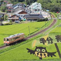 明知鉄道沿線の『田んぼde(で)アート』が見ごろを迎える