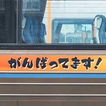 JR四国2000系に「がんばってます!南予」ステッカー