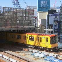 東京メトロ銀座線渋谷駅の屋根設置工事が進む