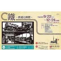 郵政博物館で企画展「鐵―鉄道と郵便―」開催
