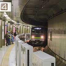 京王新線新宿駅4番線に可動式ホーム柵が設置される