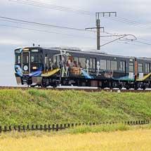 「おもてなし武将隊」ラッピング車両が愛知環状鉄道線に入線