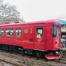 長良川鉄道でナガラ301「森号」+ナガラ502「川風号」運転