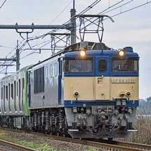 E235系トウ28編成が配給輸送される