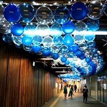 京阪,中之島駅・大江橋駅でウインターイルミネーション「フェスティバルステーション」などを実施