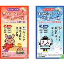 埼玉高速鉄道,「ゆく年くる年 冬休みスーパーバリューパス」と「年越しお年玉きっぷ」発売