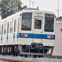 東武鉄道8000系81118編成が渡瀬へ