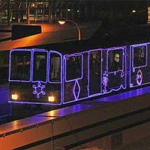 ニュートラムで「イルミネーション列車」運転
