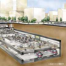 2月11日から大江戸線勝どき駅の新設ホームの供用を開始