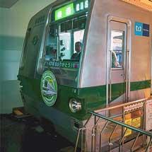 地下鉄博物館の6000系シミュレータにヘッドマーク