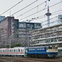 東武70000系71711編成が甲種輸送される