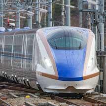 E7系F20編成が北陸新幹線で試運転