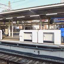 十三駅4号線ホームに可動式ホーム柵が設置される