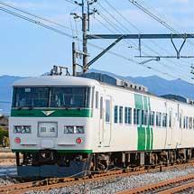 185系が回送列車で上越線に入線