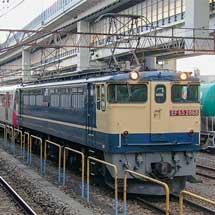 東京都交通局12-600形の甲種輸送をEF65 2068がけん引
