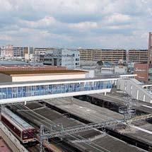 近鉄大和西大寺駅で自由通路の本体工事を開始