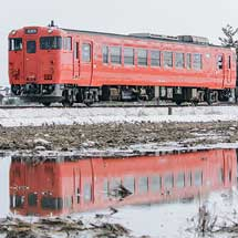 城端線でキハ40 2083の試運転