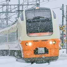 """快速""""十日町雪まつり号"""",E653系で運転"""