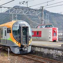 JR四国8600系による団臨が伯備線に入線
