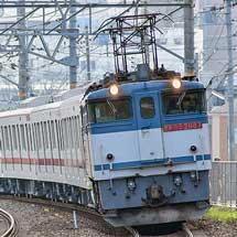 東武70000系71715編成が甲種輸送される