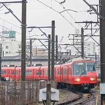 名鉄5700系5703編成と1850系1851編成が廃車回送される