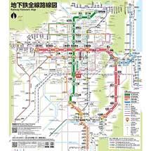 京都市交,地下鉄全線路線図を更新