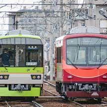 叡電,デオ900系「青もみじきらら」とデオ722リニューアル車が営業運転を開始