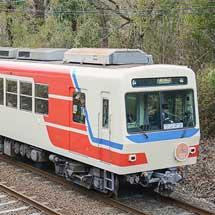 叡電デオ712が三陸鉄道カラーで運転開始