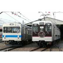 福島交通飯坂線,「7101号車+7202号車」さよなら撮影会を開催