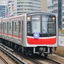 御堂筋線30000系にOsaka Metro開業1周年記念ヘッドマーク