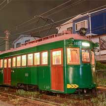 阪堺電軌モ161が工臨に使用される