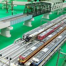 4月27日〜30日新津鉄道資料館で,新潟趣味鉄振興会による「鉄道模型走行会」実施