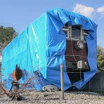 山形交通モハ103が屋根崩落の危機