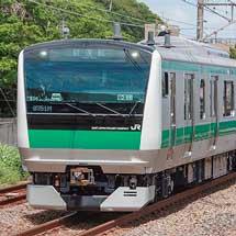 E233系7000番台ハエ136編成が東海道本線で試運転