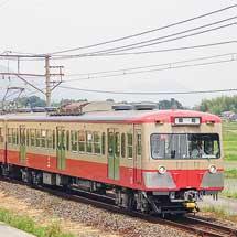 三岐鉄道で「赤電」塗装の801系803編成による団臨運転